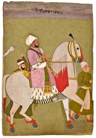 Thakur Pratap Singh of Ghanerao Opaque watercolor and gold on paper, Ghanerao, Circa 1720
