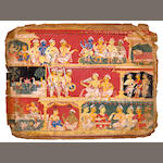 Illustration to the Bhagavata Purana Opaque watercolor on paper, North India, Circa 1520-1540