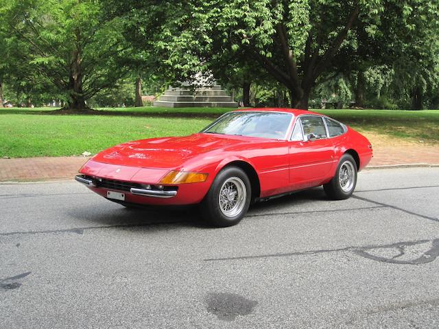 26,000 miles from new, US supplied, long term ownership,1972 Ferrari 365GTB/4 Berlinetta  Chassis no. 16221