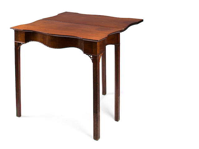 A Chippendale mahogany card table, Newport, late 18th century