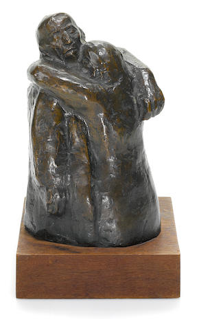 Käthe Kollwitz (1867-1945) Abschied height of bronze 6 3/4in. (17cm) height with base 8 3/16in. (20.8cm)