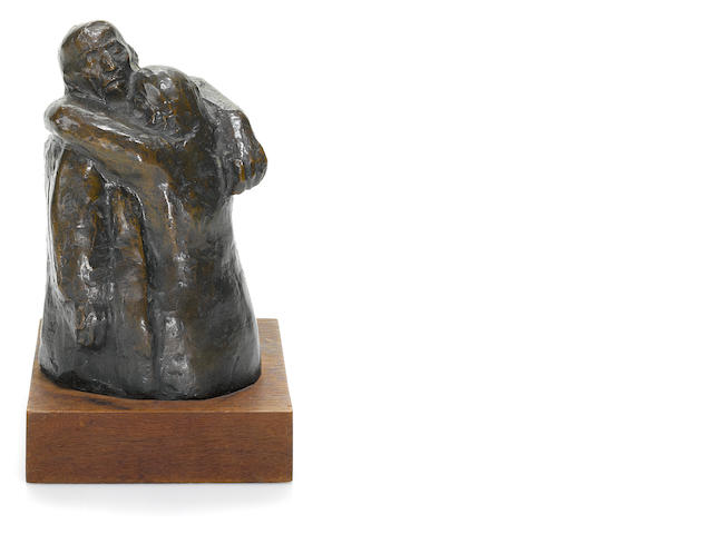 Käthe Kollwitz (German, 1867-1945) Abschied 6 11/16 x 4 3/16 x 3 3/4in (17 x 10.7 x 9.6cm) (the bronze)  8 3/16 x 4 15/16 x 4 3/4in. (20.8 x 12.5 x 12cm) (with base)