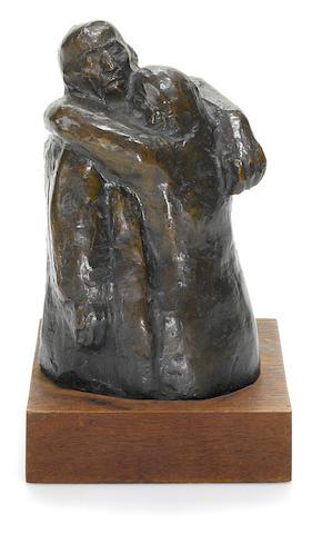 Käthe Kollwitz (German, 1867-1945) Abschied 6 11/16 x 4 3/16 x 3 3/4in (17 x 10.7 x 9.6cm) (the bronze)  8 3/16 x 4 15/16 x 4 3/4in. (20.8 x 12.5 x 12cm) (with base)