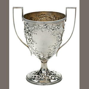 Repoussed 2-handle loving cup