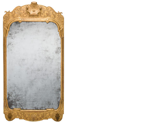 George I gilt gesso mirror