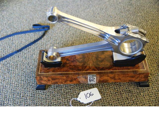 A Phantom III fork and blade desk piece,