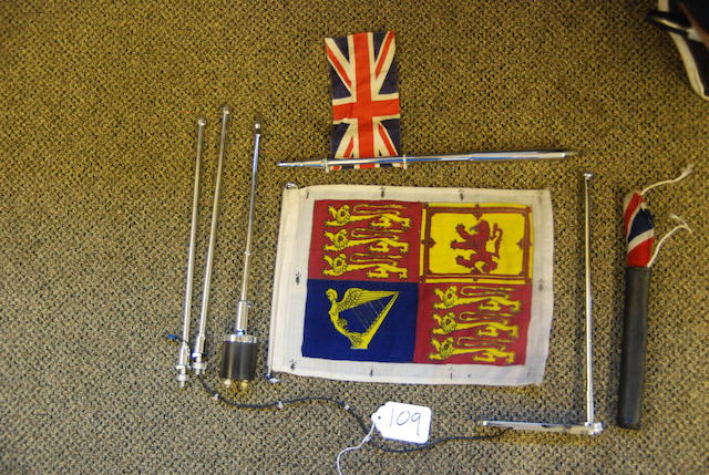 A quantity of flag stanchions,