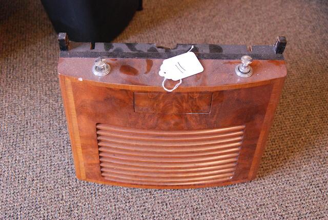 A wood cased loud speaker,