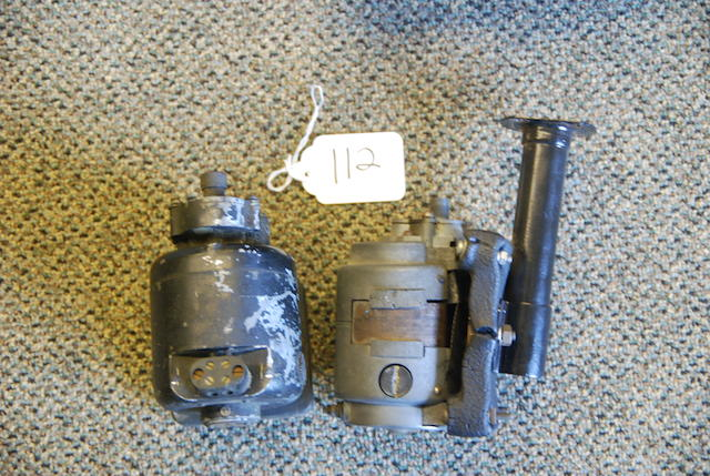A pair of windshield wiper motors,