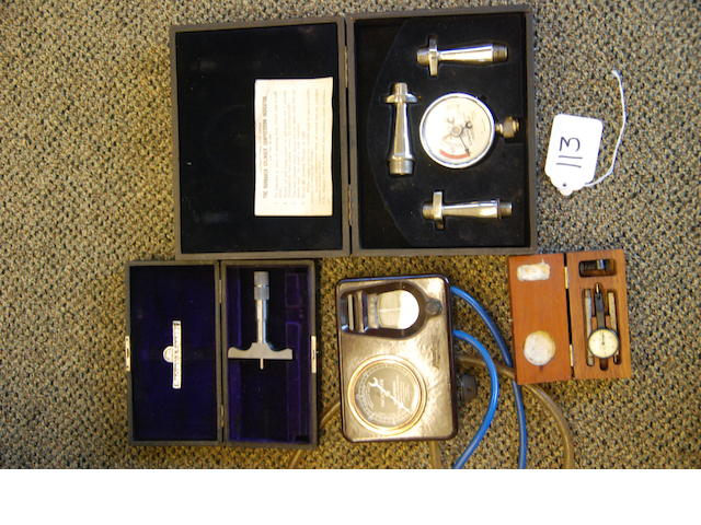 An assorted set of rare instruments,