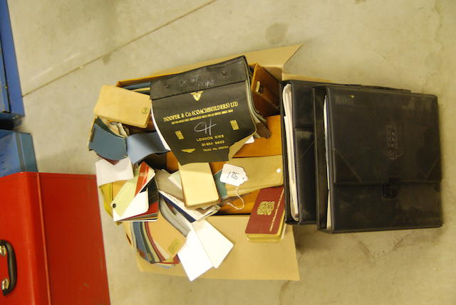 A quantity of Rolls-Royce leather and carpet sample books.(Qty)