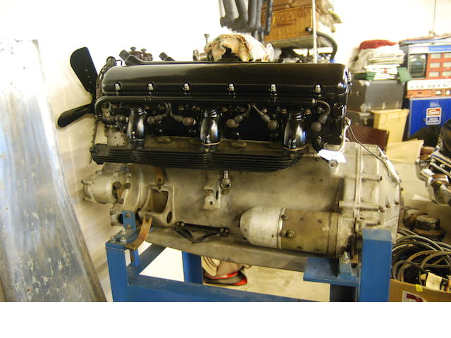 A complete Rolls-Royce Phantom III engine and transmission,