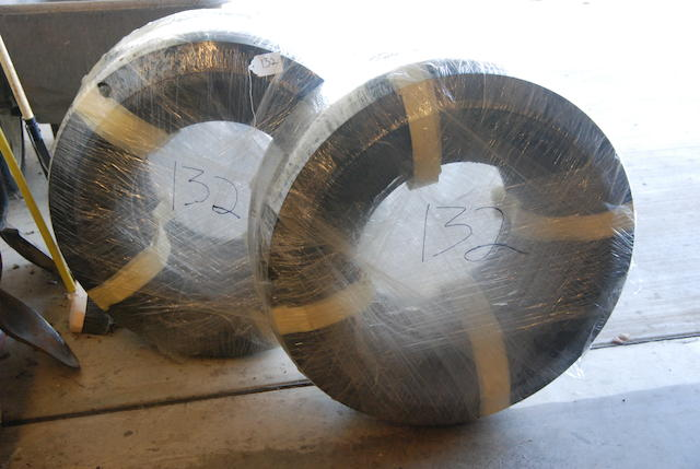 A set of four 7.00 by 18 tires,
