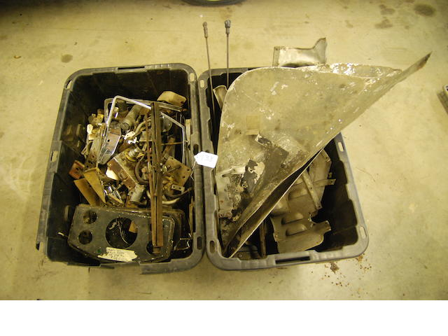 A quantity of Rolls-Royce Phantom III under shields and body parts,