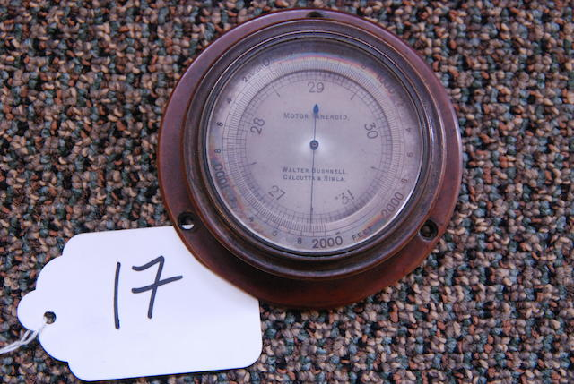 A Motor Aneroid altimeter.