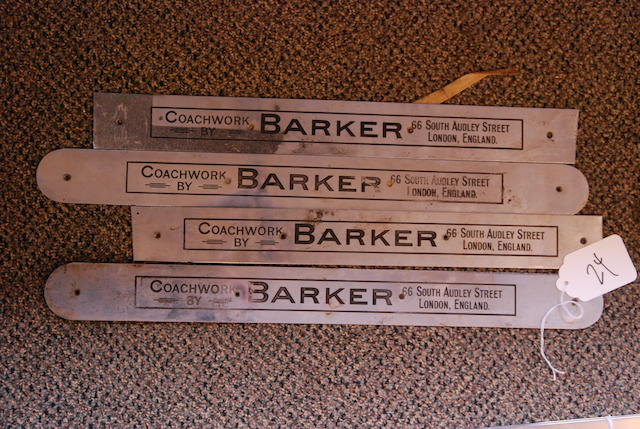 A set of four Barker coach plates.