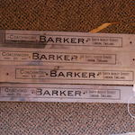 A set of four Barker coach plates,
