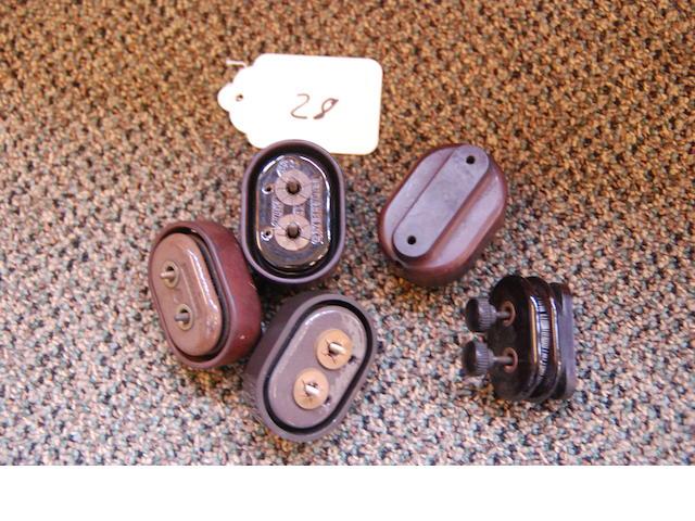 Original Bakelite and ceramic resistors,