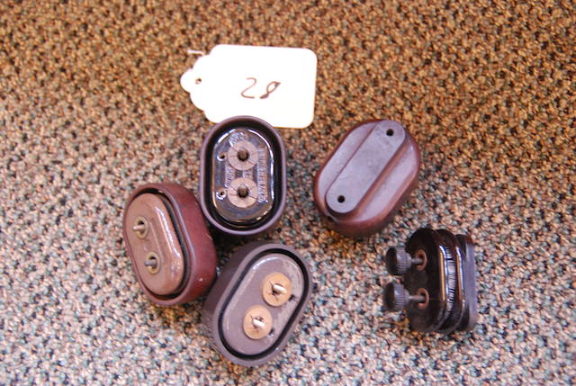 Original Bakelite and ceramic resistors,
