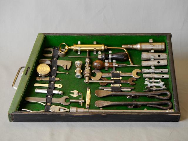 A complete Rolls-Royce Phantom III tool set.