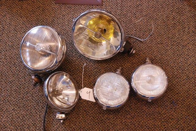 An assortment of driving lights,