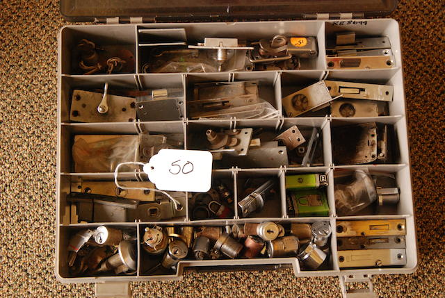 A quantity of Rolls-Royce lock hardware,