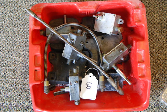 A set of Claxton windshield wiper control boxes, cables and mounts,