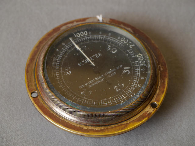 A Wilmot Manufacturing Co. altimeter,
