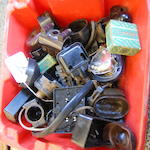 A quantity of Bakelite electrical items,