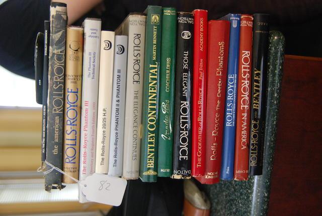 An assortment of Rolls-Royce and Bentley books,