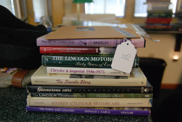 A quantity of American car books,