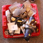 A collection of Rolls-Royce fuel and oil system parts,