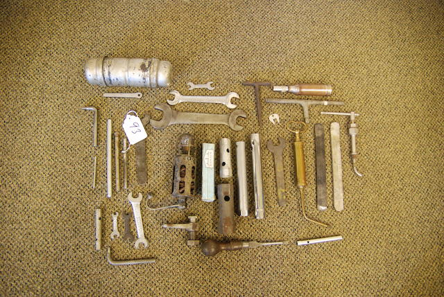 A good but incomplete selection of pre-WWII Roll-Royce tools,