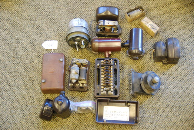 A quantity of Rolls-Royce Phantom III electrical parts,