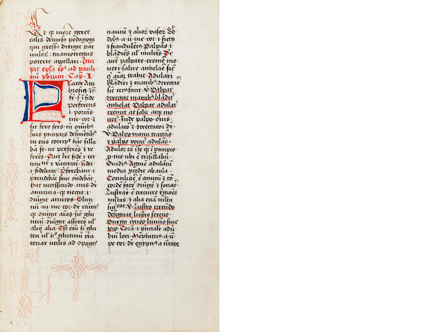 Marchesinus, Joannes - Mammotrectus super Bibliam. Venice: Nicolaus Jenson, 1479 - 4to, [COMPARE LINE 102]