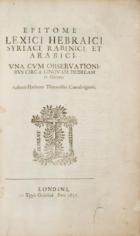 [SCHINDLER?] THORNDIKE, Herbert Thorndike, 1598-1672
