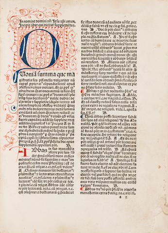 NICOLAUS DE AUSMO. D.1453. Supplementum summae pisanellae et canones poenitentiales fratris Astensis et Consilia Alexandri de Nevo contra judaeos foenerantes. Venice: Leonardus Wild, 1489 [but 1479].