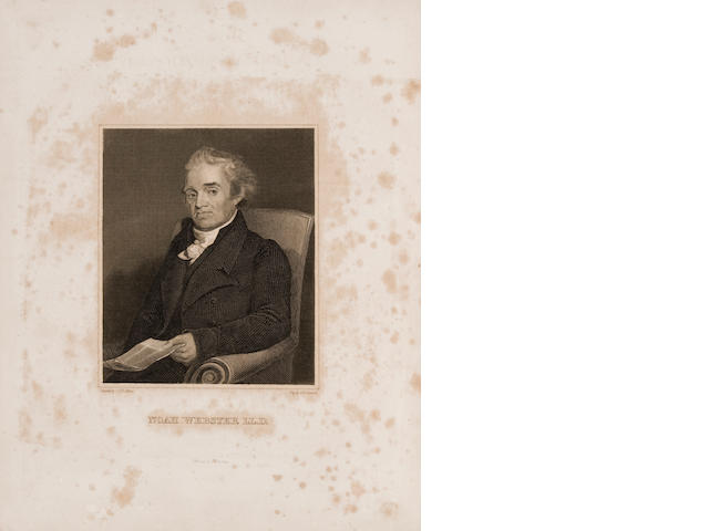 WEBSTER, NOAH. 1758-1843. An American Dictionary of the English Language.  New York: S. Converse, 1828.<BR />
