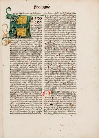 REUCHLIN, JOHANNES. 1455-1522. Vocabularius breviloquus.... Strasbourg: [Georg Husner], June 14, 1488.<BR />