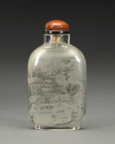 An inside-painted glass snuff bottle  Zhang Baotian, date 1899    DESSA - CHECK