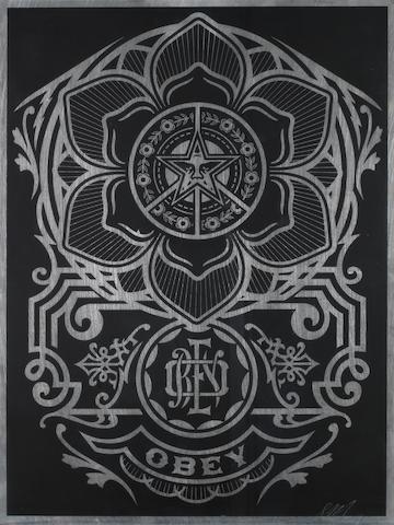 Shepard Fairey (American, born 1970) Lotus <BR />