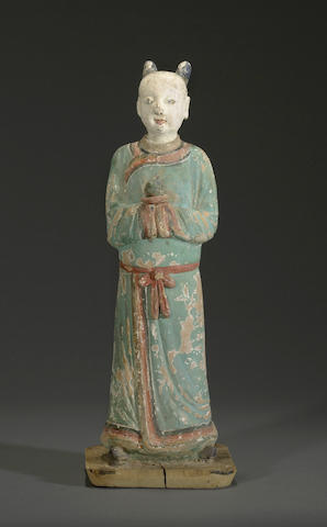 A painted stucco funerary model Ming dynasty or later