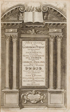 BOOK OF COMMON PRAYER. The Book of Common Prayer. London: printed by His Majesties Printers, 1662.