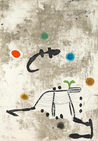 Joan Miró (1893-1983); Personatge I Estels II;