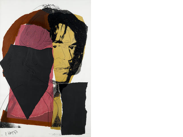 Andy Warhol, Mick Jagger, (F & S II 139), 1975, Color screenprint, Signed by Mick Jagger and the artist and numbered 207/250