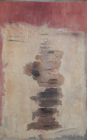 Ynez Johnston (born 1920) The Angel of Numbers, 1961 60 x 38in (152.4 x 96.5cm)