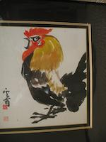 Kim Ki-Chang (1913-2001) Rooster and Acrobat