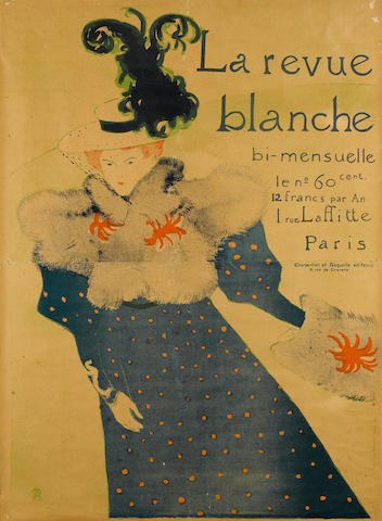 **Pending Authentication** Henri de Toulouse-Lautrec, La revue blanche, 1895, 50 x 36in