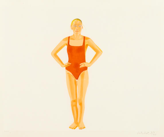 Alex Katz (born 1927); Swimmer;
