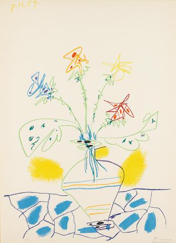 Pablo Picasso (1881-1973); Vase de Fleurs;
